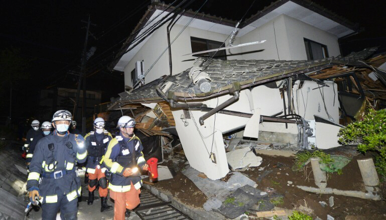 7.0 quake strikes Japan after earlier one kills 9