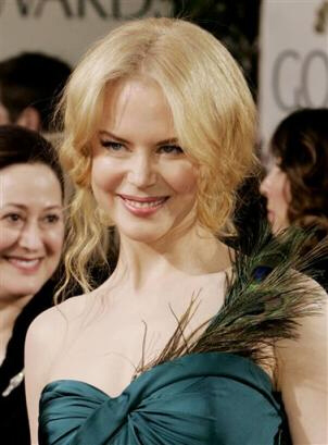 A blonde Nicole Kidman arrives for the 62nd Annual Golden Globe Awards