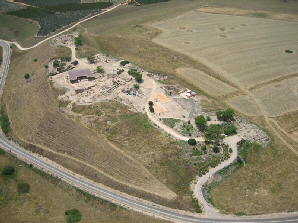Aerial photo of Tel Hazor