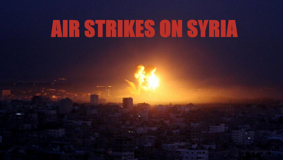 Israel launches air strikes on Syrian cities