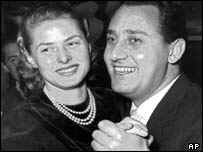 Alberto Sordi and also dead star Ingrid Bergman