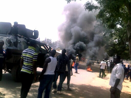 An explosion rocked St Finbers Catholic Church in Jos