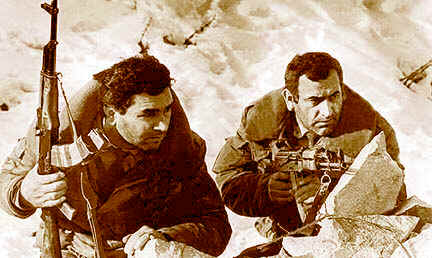 Armenian civilian fighters during early days of last Nagorno-Karabakh war