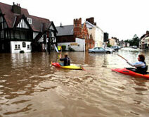 Beverley in northern England hit by flood