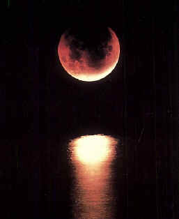 Moon the colour of blood