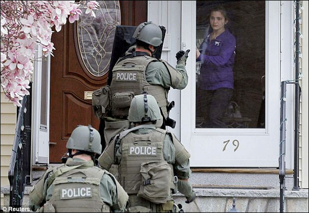 Female resident ordered out of home by SWAT police