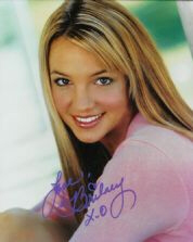 Autographed photo of Britney Spears
