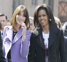 Carla Bruni and Michelle Obama