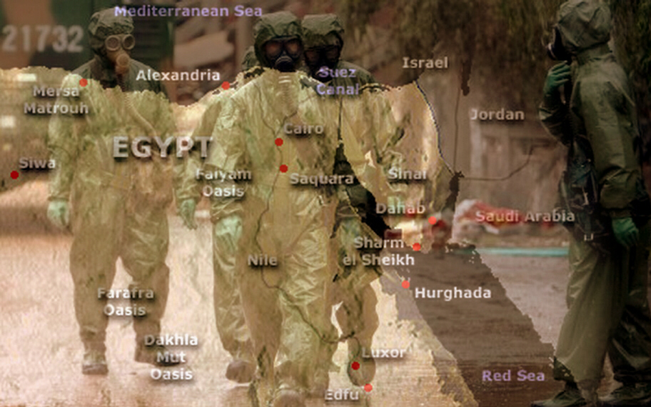 Chemical attack on Egypt