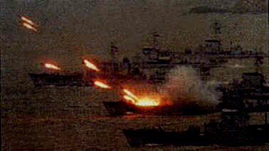 Naval battle in the Gulf of Sidra