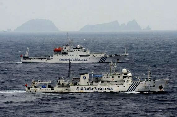 Chinese marine surveillance ships cruising in South China Sea