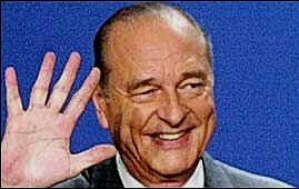 Jacques Chirac wins second term in a landslide victory