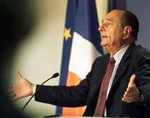 Chirac, 'the king of Europe'