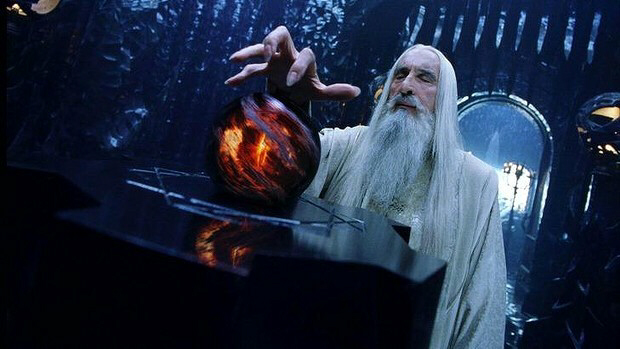 Christopher Lee as Saruman in The Lord of the Rings