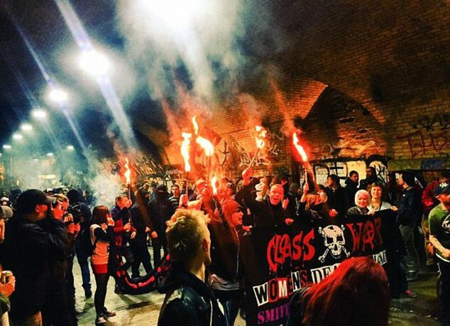Class War hate mob attacks East London hipster cereal cafe