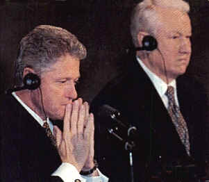 Clinton and Yeltsin at 1997 Helsinki Summit