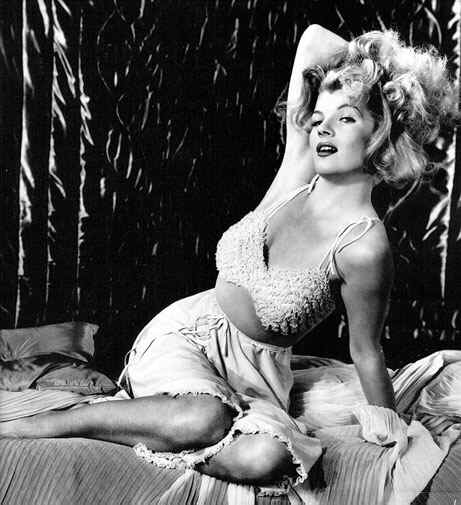 Sultry actress Corinne Calvet from old 1950s film