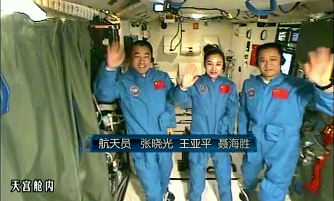 SAMAROBRYN REVEALED? Crew of China's 'Tiangong' space lab