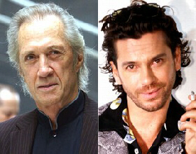 Actor David Carradine [L] and INX singer Michael Hutchence [R]
