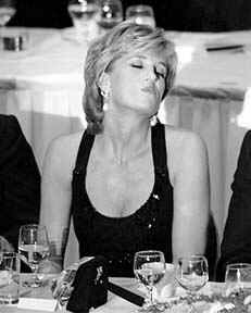Princess Diana at dinner party