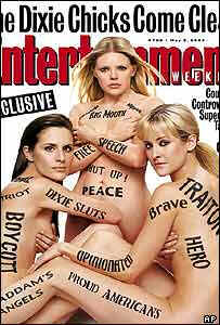 Dixie Chicks make their point on the cover of Entertainment Weekly