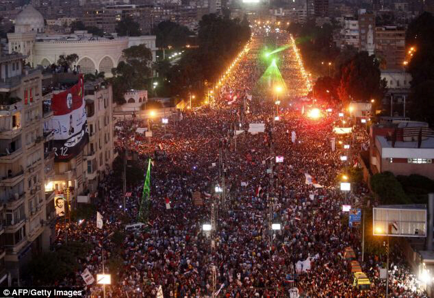 Egyptians flooded the streets determined to oust Morsi