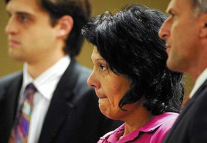 Elisa Baker appears in court. Photo: AP