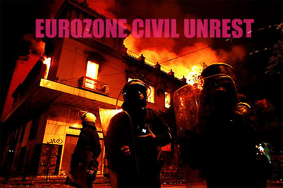 Civil unrest in Eurozone