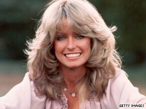 Farrah Fawcett rose to fame in the 1970s