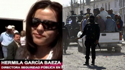Hermila Garcia Baeza elected chief of police in Meoqui, Chihuahua, shown here in October 2010, has been executed by drug cartel gunmen, November 30, 2010