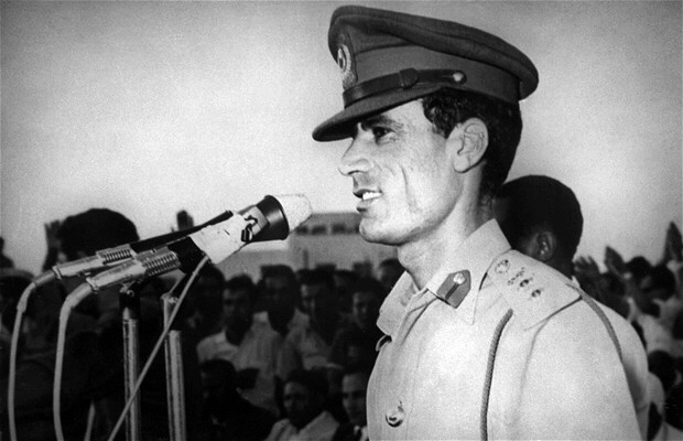 Colonel Moammar Gadhafi overthrows King Idris of Libya, 1969