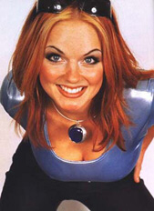 Geri Halliwell has close call