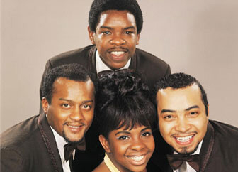 Edward Patten (L) with Gladys Knight & The Pips