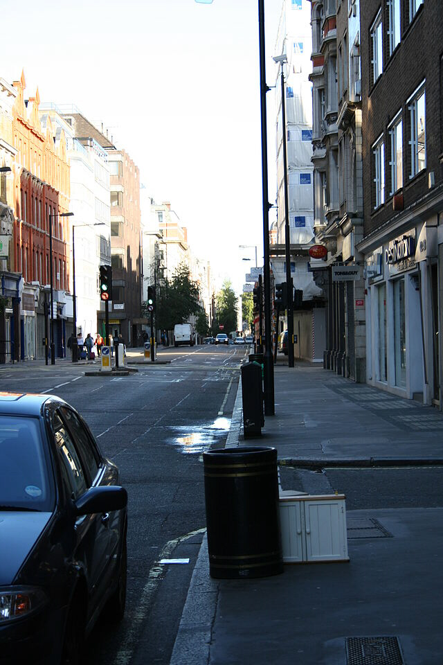Great Portland Street, scene of murder