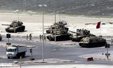 Gulf Cooperation Council forces move into Pearl Square
