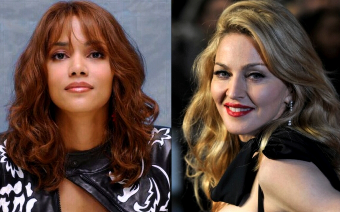 Marked for death? Halle Berry (L) and Madonna (R)