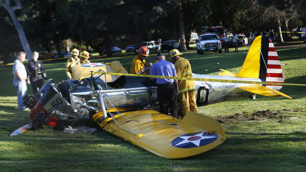 Harrison Ford injured in plane crash on Penmar Golf Course in Venice