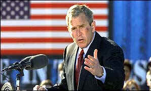 "President George W Bush may be the ""monarch"" who is ""slaughtered"" just as the United States enters World War III"
