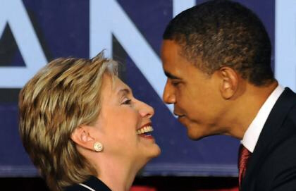 Hillary Clinton and Barack Obama put on their show of unity
