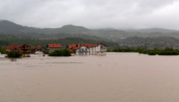 Homes are flooded after rivers overflowed in Sarajevo, Bosnia