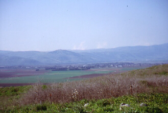Hula Valley, seen from the Golan Heights