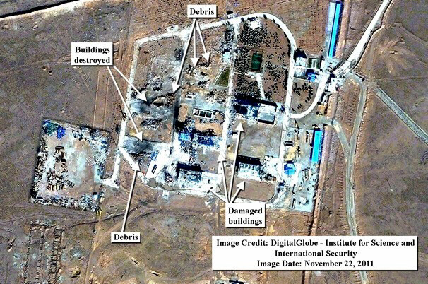 Image shows Iranian missile site was destroyed