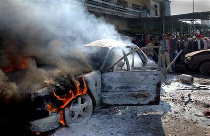 The latest bombing in Iraq killed 72 people and injured 117.  Hundreds have died in recent days as US troops withdraw from the cities.