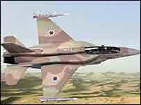 Israeli F16 taker off for air strike