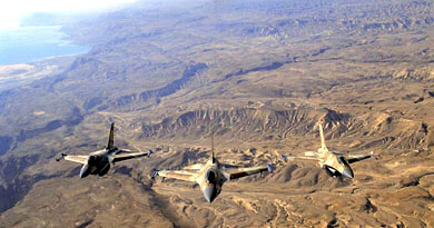 Israeli F16s on way to Iran