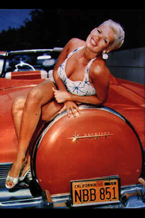 Jayne Mansfield and favourite convertible