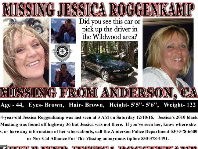Jessica Roggenkamp, 44, was reported missing on December 12