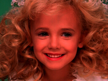 JonBenet Ramsey was made by her parents to look like a sexy little adult. Her raped and strangled body was found in the basement of her home in December 1996.