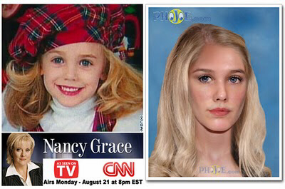Nancy Grace recently showed what JonBenet would look like as a girl in her late teens. Even in death, JonBenet continues to be robbed of her childhood.