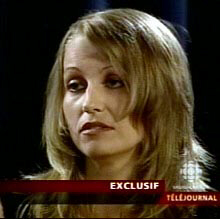 Karla Homolka is seen during an interview with Radio-Canada in Montreal on July 4, 2005, hours after her release from prison following a 12-year term in the deaths of Kristen French and Leslie Mahaffy.
